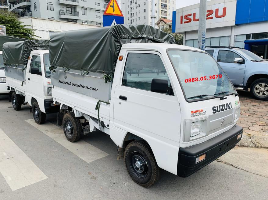xe tai suzuki 5 ta 500kg thung mui bat mau trang
