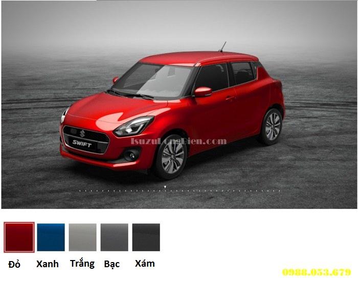 5 mau xe Suzuki Swift - Do - Trang - Xanh - Bac - Xam