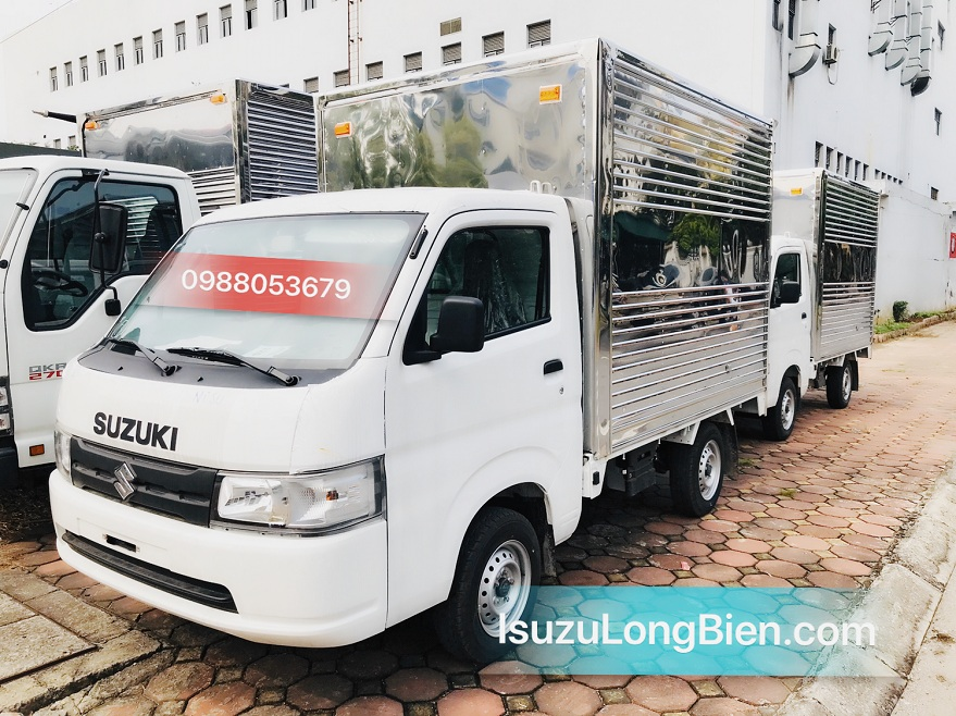 Suzuki 7 ta 940 carry Pro nhap khau thung kin inox dai 2m7