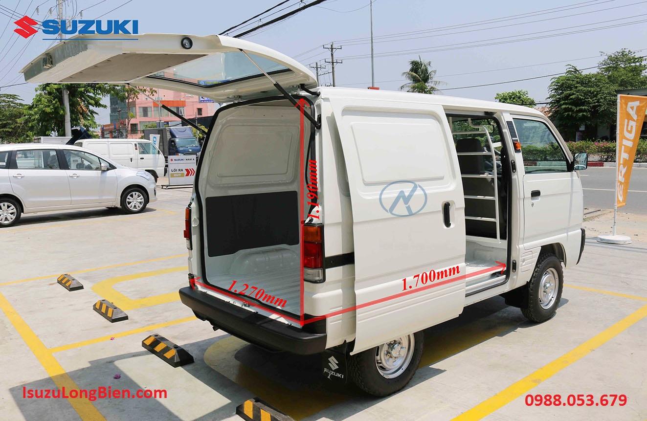 Kích thước lòng thùng xe Suzuki bán tải Blind Van cóc