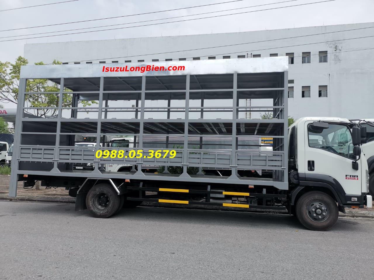 xe tai isuzu 6,5 tan frr 650 thung cho xe may 2 tang 6m7 frr90ne4