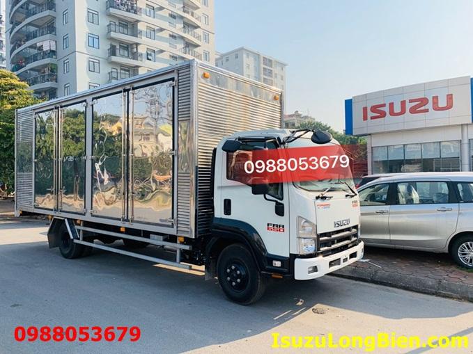 xe tai isuzu frr 650 6 tan thung kin cho pallet cao 2m52