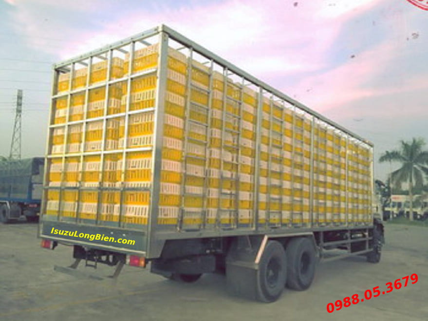 xe tai isuzu fvm 1500 15 tan thung cho gia cam ga vit fvm34we4