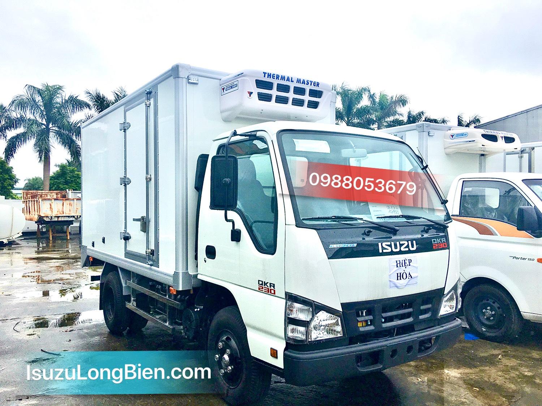 xe tai isuzu qkr 230 1,4 - 2,4 tan thung dong lanh tai trong 800kg