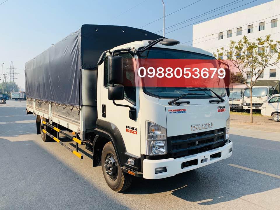 Xe tải isuzu Frr 650 6 tấn thùng mui bạt